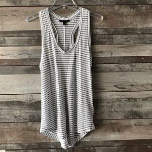 Banana Republic tank gray white Sm.